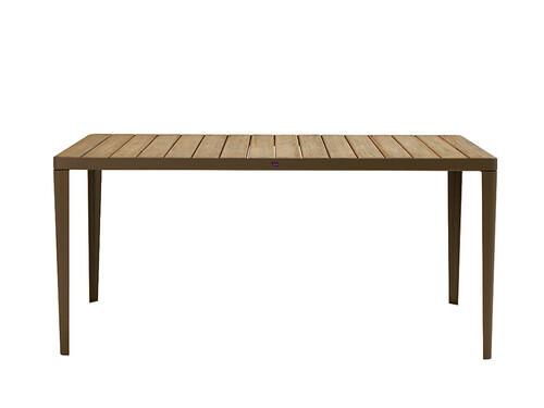 Tisch Laren 160 x 90 cm   kaffeebraun/Teak, natur