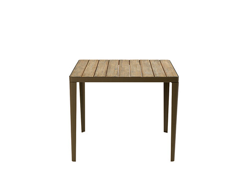 Tisch Laren 90 x 90 cm | kaffeebraun/Teak, natur