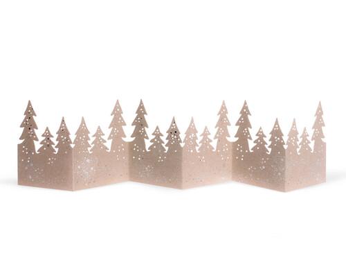 Tischaufsteller Winter Tischgirlande Wald