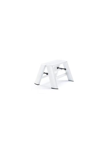 Tritthocker Lucano Tritthocker - 2 Stufen | Aluminium, weiß