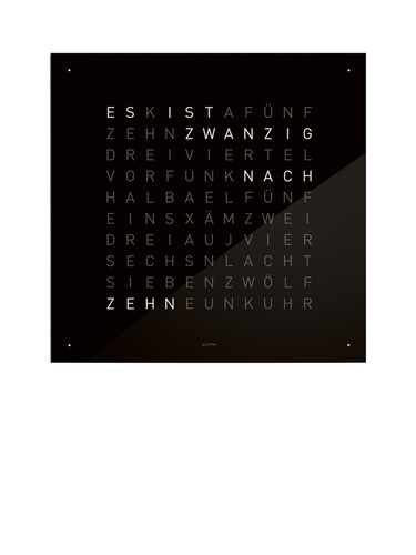 Wanduhr Qlocktwo Standard Edition | Black ice/schwarz