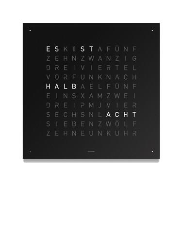 Wanduhr Qlocktwo Standard Edition   Edelstahl, schwarz