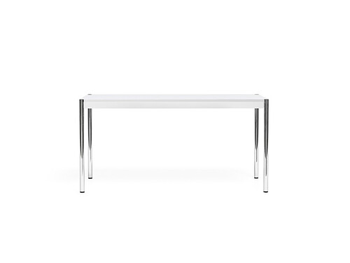 USM Schreibtisch 150 x 75 cm | MDF, weiß pulverbeschichtet