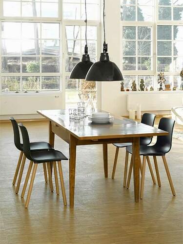 Stuhl HAL Wood Stuhl | schwarz