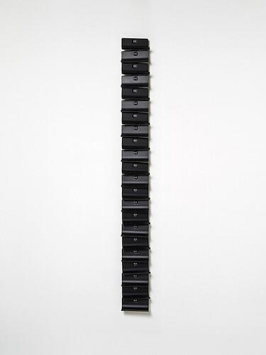 Wand-Weinregal Ptolomeo Vino Wall für 22 Flaschen | schwarz