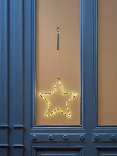Weihnachtsanhänger Liva Star Ø 30 cm – batteriebetrieben | weiß