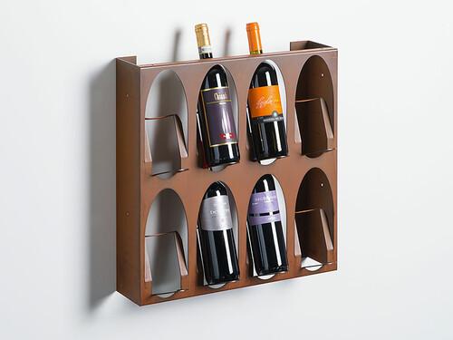 Weinregal Libreria del Vino für 8 Flaschen | Cortenstahl