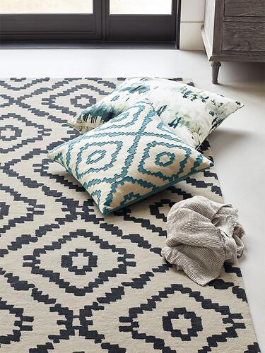 Teppich Sami B 200 x L 280 cm | kohle/creme