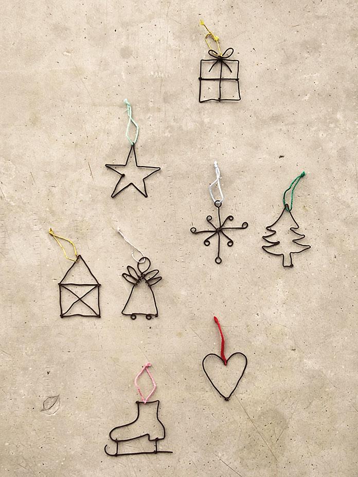 Einfache Weihnachtsgrüße.Anhänger Kleine Weihnachtsgrüße